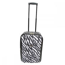 Fashion Design Zebra Pattern Wheeled Trolley Bagage